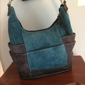 Tignanello suede hobo style bag.
